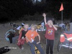Unicyle Boy - Kids meeting kids Rathtrever Provincial Park By Lori Pete and Andy Boray
